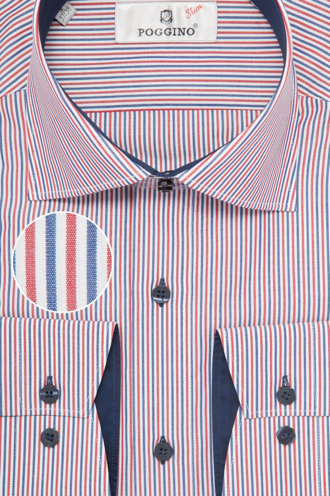 Мужская рубашка приталенная Poggino
