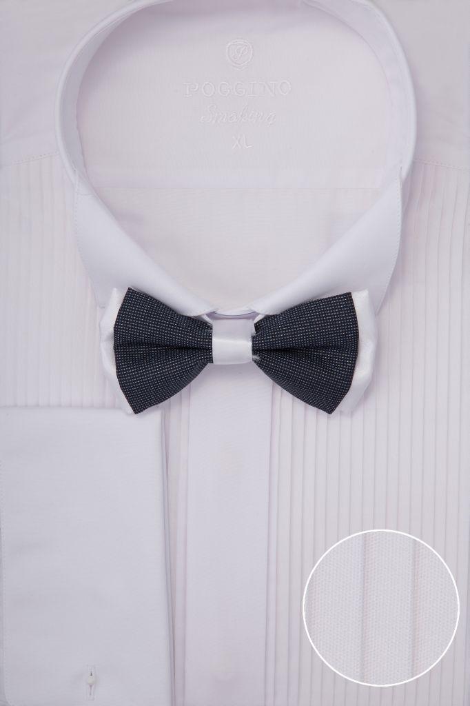 Мужская рубашка под запонки приталенная продажа