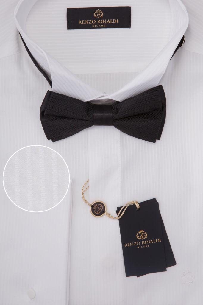 Мужская рубашка под запонки приталенная